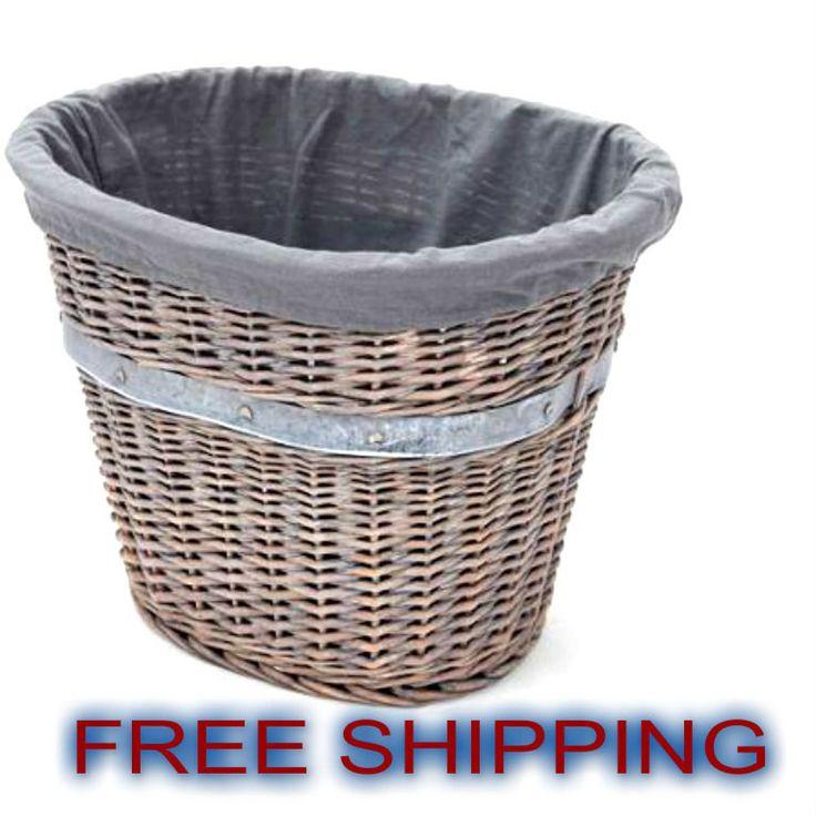 Basket Willow Bath Organizer Storage Clothes Laundry Oval Home Decor Wicker NEW*