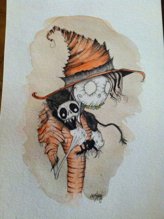 Orange Witch Original Art  Cartoon Art By Stagi by StagiWorks, $30.00