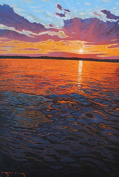 Northern Sunset - painting by Mark Berens at Crescent Hill Gallery