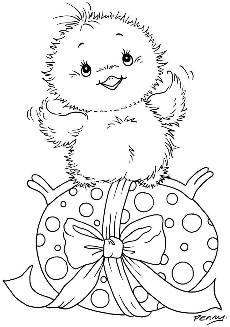 happy easter chick coloring pages - photo#38