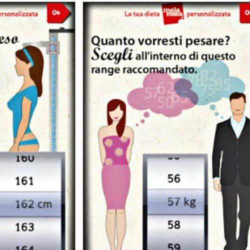 #Dieta Mela Rossa: è possibile provare anche l'app della Società Italiana di Scienza dell'Alimentazione, per perdere peso con un regime approvato da esperti.