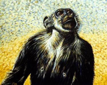"Saatchi Art Artist Dan Civa; Painting, ""Chimpanzee portrait (chimp 2)"" #art"