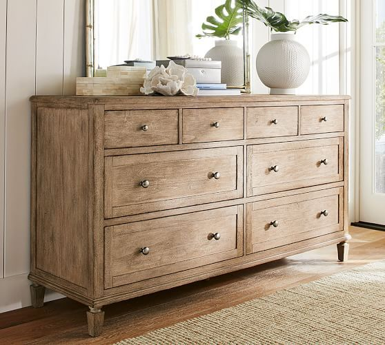 A refined coastal style defines this bedroom collection  The extra wide  dresser offers ample storage  and a Seadrift finish on the wood adds a  sun drenched. 17 Best ideas about Bedroom Dressers on Pinterest   Dressers  Grey