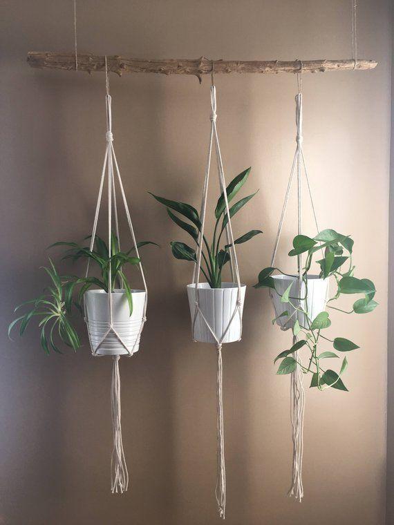 Minimalist Macrame Plant Hanger//Modern Macrame//Macrame Plant Holder