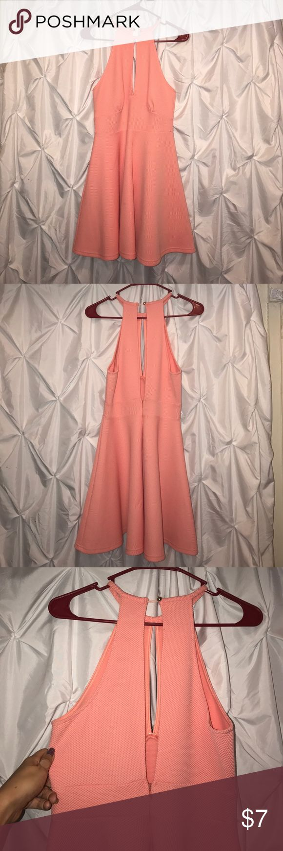 A'gaci pink mini dress Super thick fabric so you can't see any bra inserts or underwear through it. Worn one time. It's really flattering on. a'gaci Dresses Mini