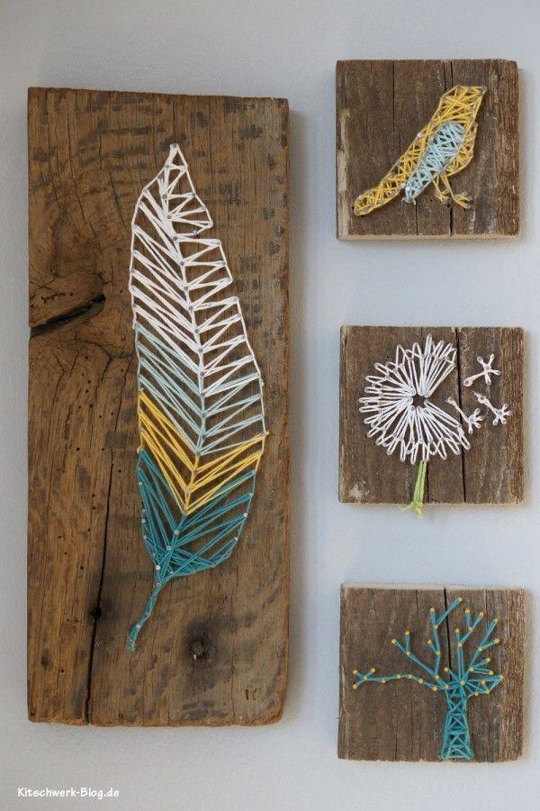 DIY Nagel und Faden Bild http://www.handmadekultur.de/projekte/diy-nagel-und-faden-bild_101714