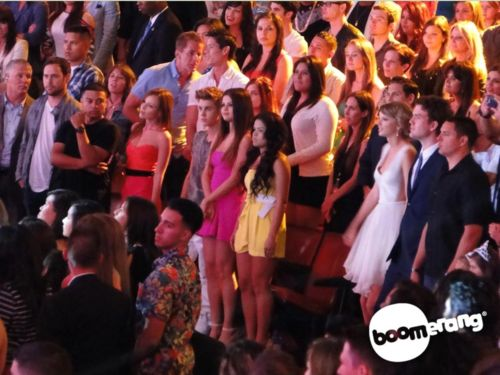 Rare photo of Justin and Selena at the Teen Choice Award's 2012