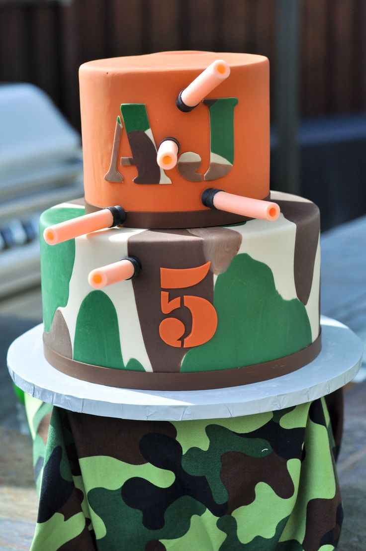18 best Nerf Cake Ideas images on Pinterest Birthday cakes Nerf