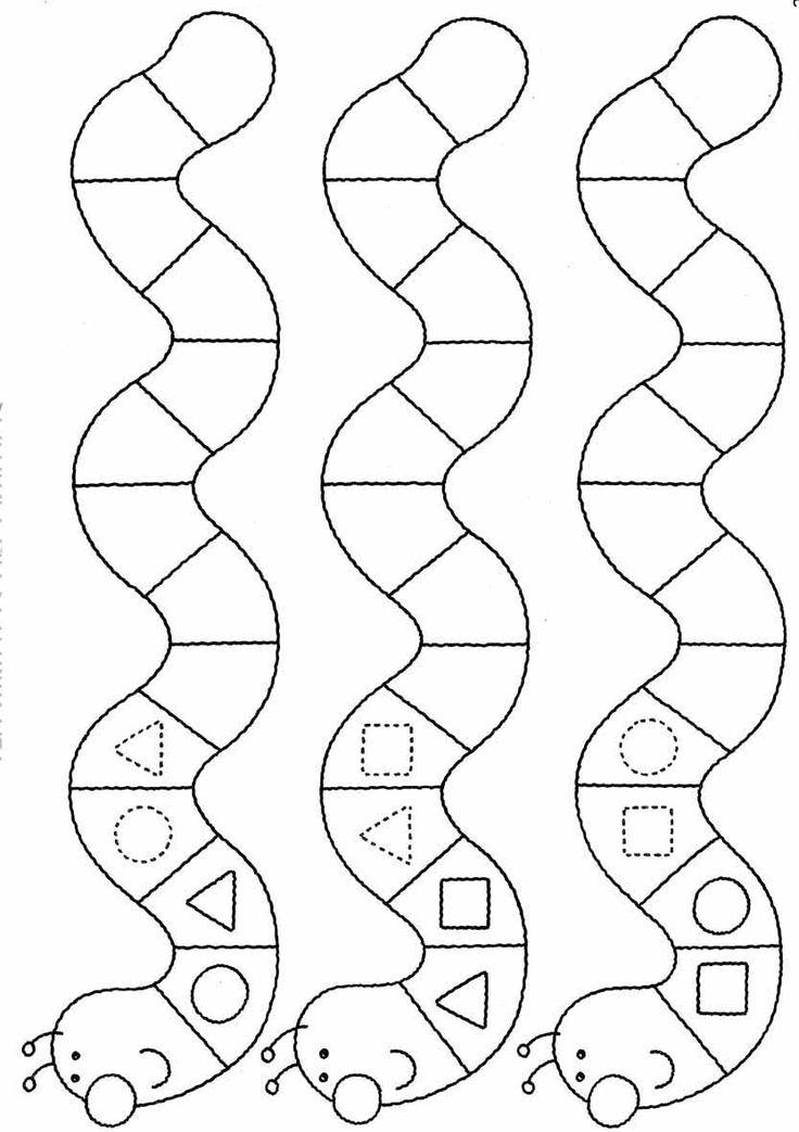 figuras,geométricas,minhoca,Atividades com: FIGURA FUNDO, COMPLETAR A FIGURA e COMPLETAR A SEQUÊNCIA.educação infantil,anos iniciais,coordenação motora fina
