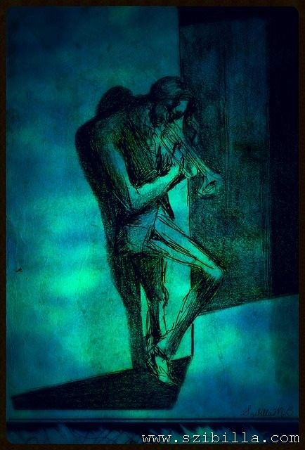 The Blues. my #drawing #blues #music