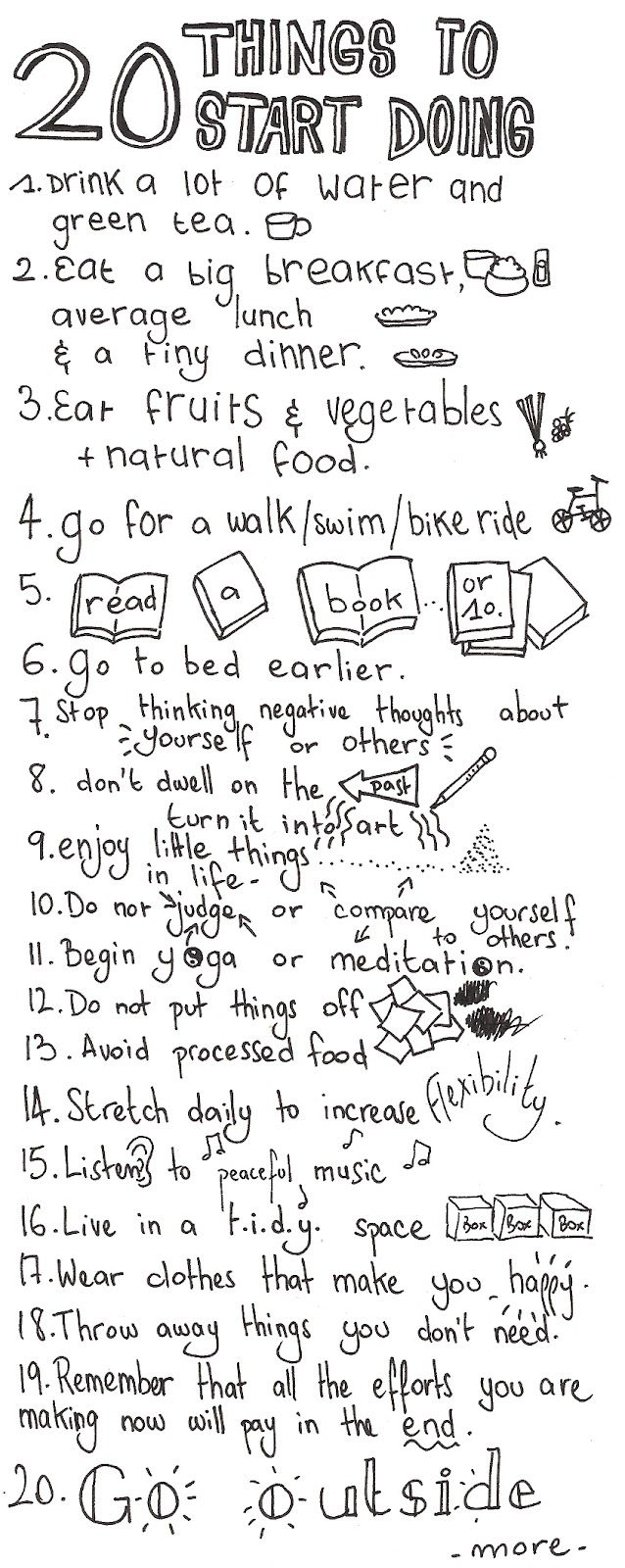 To do list for self care