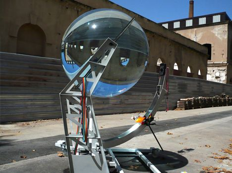 Solar / Lunar energy orbs ... more efficient and versatile than traditional solar cells. And they look like the future should: crazy ape bonkers!