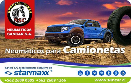 Neumático Camionetas 4x4   Neumáticos Starmaxx Incurro 430 e Incurro 440 Especial para Camioneta 4x4 Alto rendimiento y gran resistencia al desgaste en diferentes superficies.  Representante Exclusivo en Chile de Starmaxx Neumáticos Sancar, Todos en un solo lugar. http://www.sancar.cl/ | ventas@sancar.cl +56226890505 | +56226891266