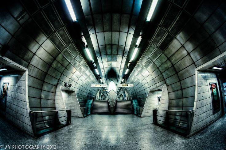 Southwark Underground Station, London, England by Aaron Yeoman