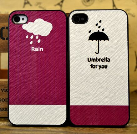 Cute Rain-Umbrella for you iPhone Case for Couple
