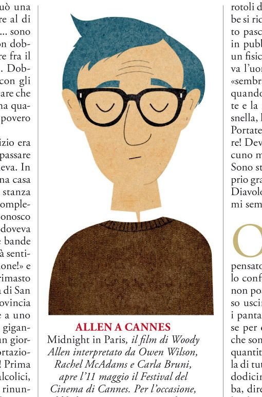 Illustrations for a story written by Woody Allen for GQ Italia.