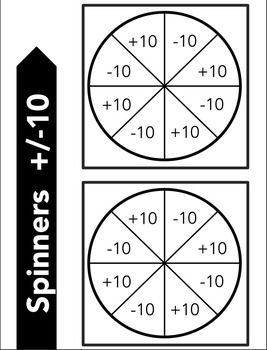 Math Centers {FREE} Racing to 100, 120, 200, 1000 with Spinners