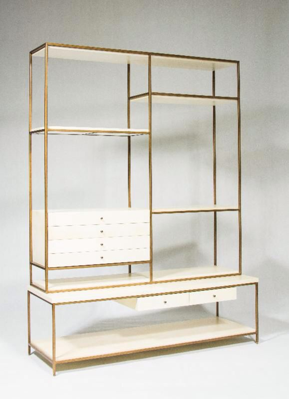 Cabinet, bronze and white