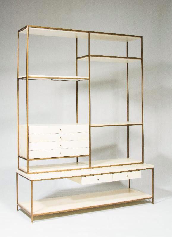 Cabinet, bronze and white