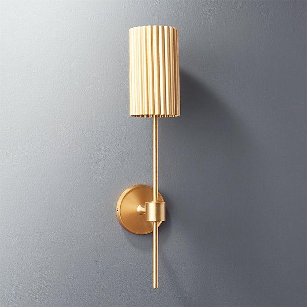 Lighting Emily Henderson Gold Wall Sconce Indoor Wall Sconces Modern Wall Sconces