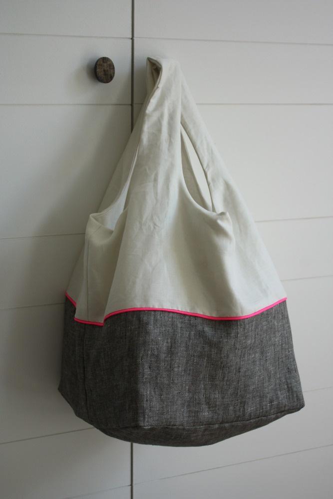 Image of sac cosi - lin gris chiné