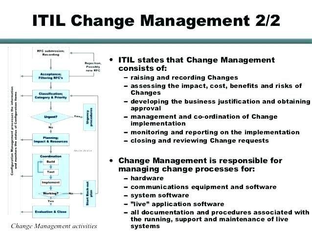 30 Itil Change Management Template In 2020 Change Management