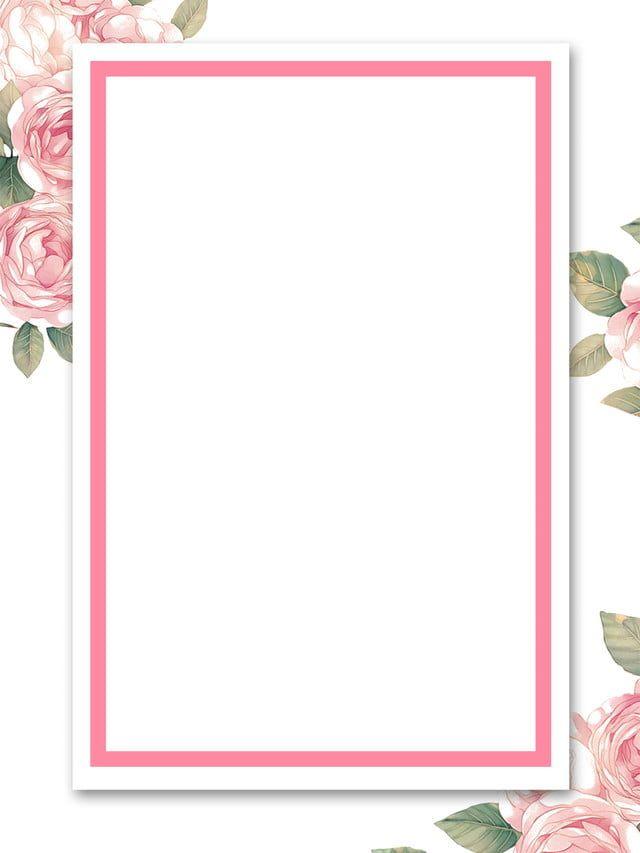 Frame Pink Background Painted Flower Background Advertising Background Holiday Background Invitati Pink Roses Background Floral Border Design Background Design
