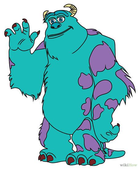 How to Draw Sully from Monster's Inc: 10 Steps (with Pictures)