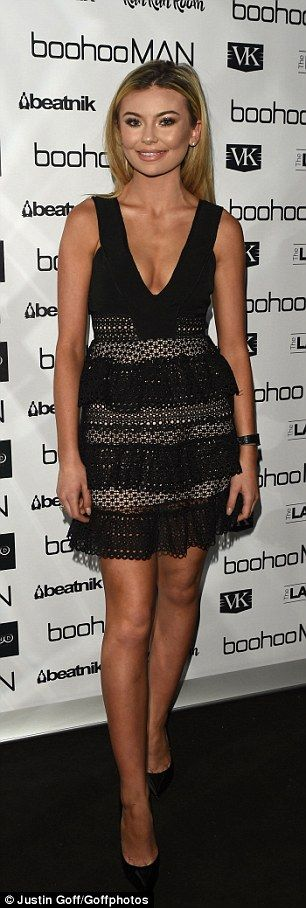 Back to black: Made In Chelsea starGeorgia Toffolo dazzled in a little black dress with l...
