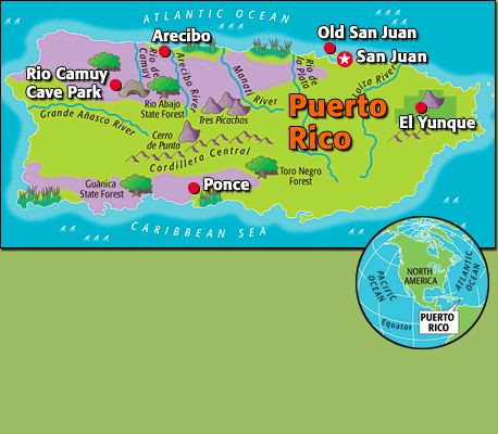 Best World StudiesGeography Images On Pinterest History - Geographical map of puerto rico