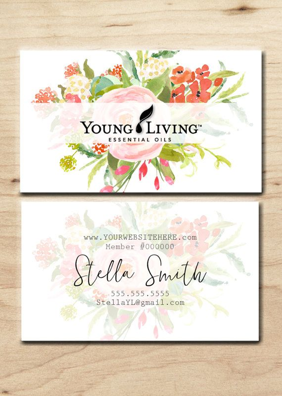 Young Living Business card-Personalized by LavenderDreamsStudio
