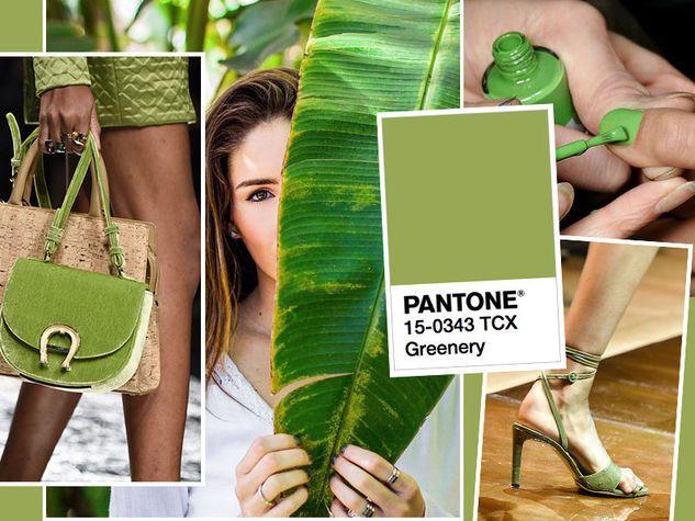 Pantone Greenery 15 - 0343 TCX, il verde brillante del 2017. Da sinistra: Aigner, Nina Ricci.