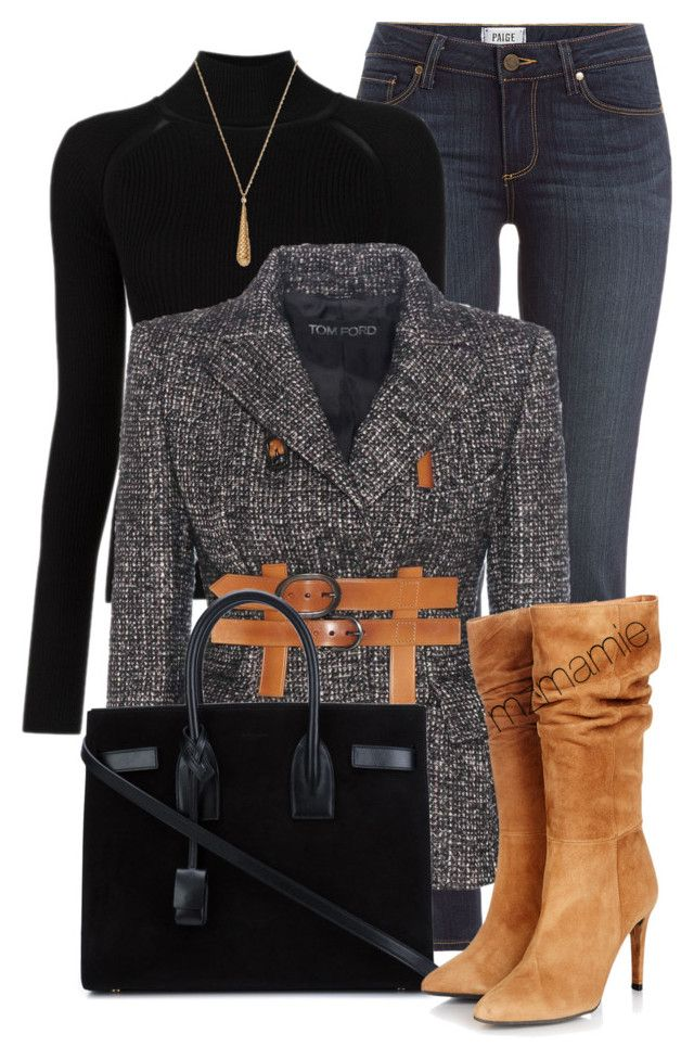 """""""Untitled #2805"""" by mzmamie on Polyvore featuring Paige Denim, Misha Nonoo, Tom Ford, Yves Saint Laurent, Gestuz and Gucci"""