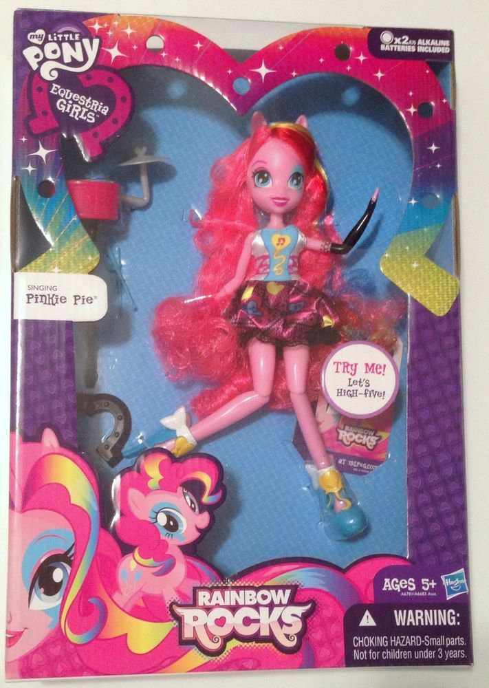 My Little Pony Equestria Girls Rainbow Rocks Singing Pinkie Pie Doll Rock music #Hasbro