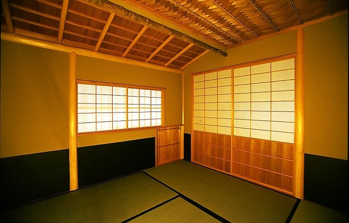 Nijiriguti  Kyoto Japan  茶室内部 にじり口 A doorway for guests particular to a small,soan chashitu.