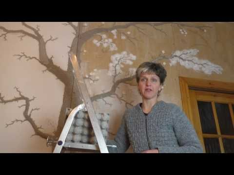 Лепнина Дерево на стене Часть 2 - YouTube