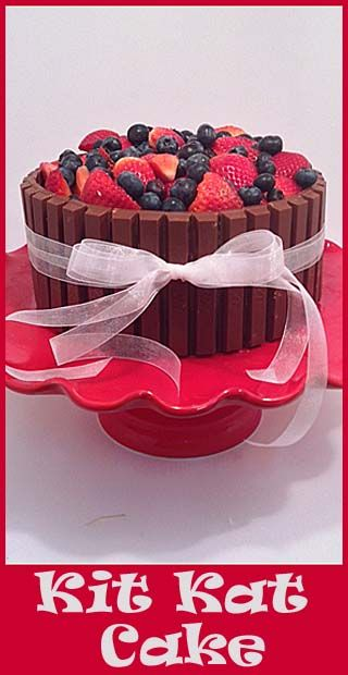 Kit Kat Cake- NO FAIL way to decorate a cute cake!
