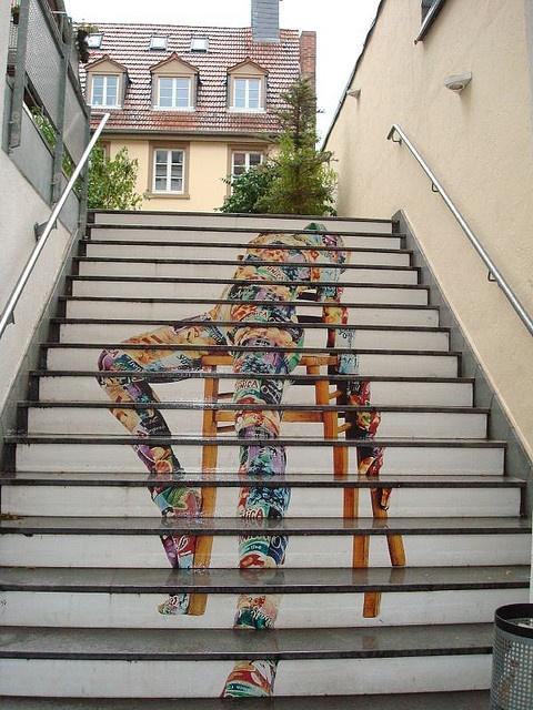 Marvelous Stair Art, Heidelberg. Photo By Trudi Lehnhardt