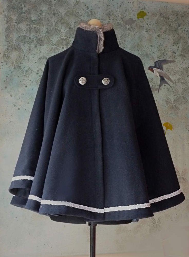 25 best ideas about cape femme sur pinterest manteau cape manteau femme 80 39 s et cape blanche. Black Bedroom Furniture Sets. Home Design Ideas