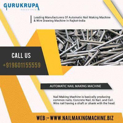 Nail Making Machine: Nail Making Machine | Common Nail Making Machine I...