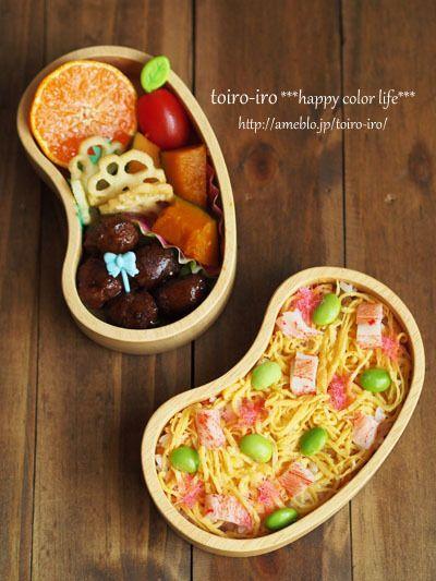 ちらし寿司のお弁当|トイロ オフィシャルブログ「トイロイロ ***happy color life***」Powered by Ameba