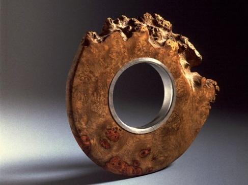 Bracelet   Martina Dempf. Amboina wood and sterling silver