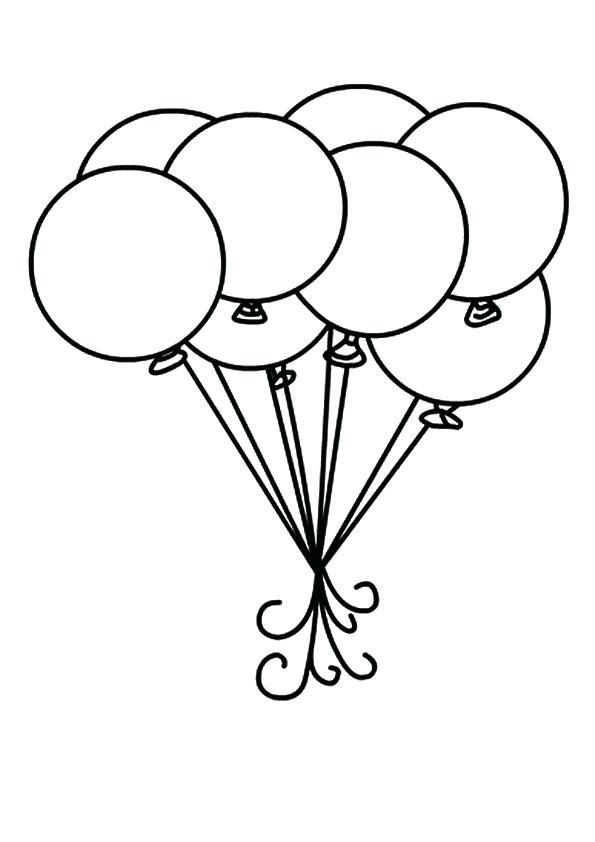Remarkable Printable Balloon Template Print Coloring Pages Balloons 7 Kids Princess Coloring Pages Birthday Coloring Pages Princess Coloring