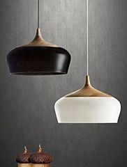 luce lampadario a sospensione luce di soffitto del corridoio condotto le lampade letto luce del pendente vernice spray in alluminio 1 luce