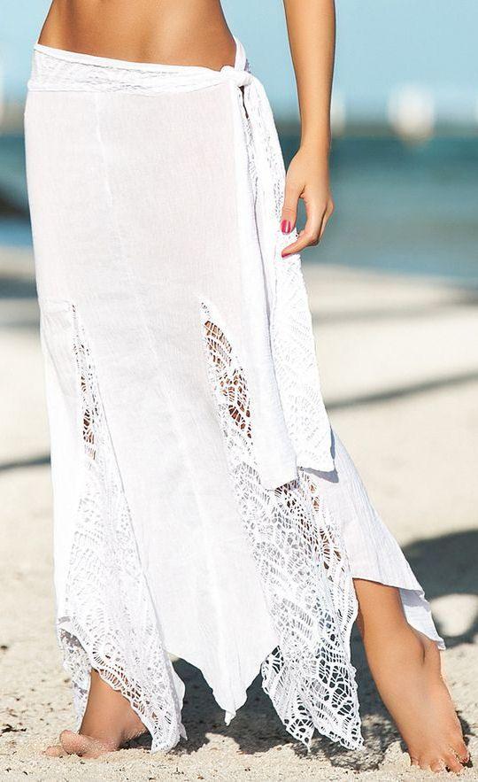 White Mesh Wrap Skirt ♥