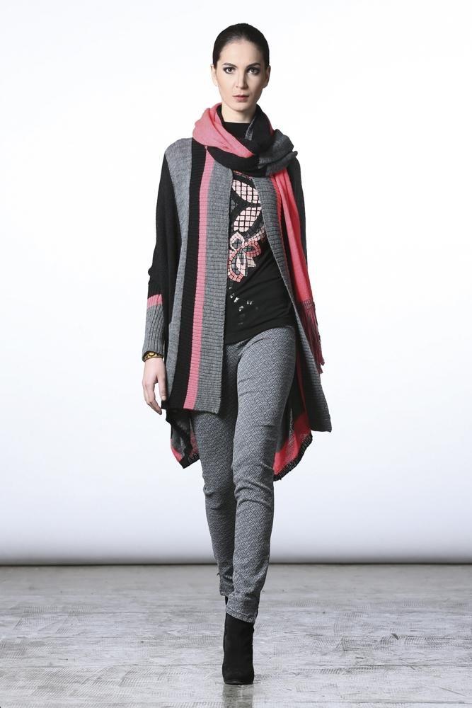 #pianurastudios #fallcollection #wintercollection #greenbird #abudhabi #abudhabistyle #abudhabifashion #dubai #dubaistyle #dubaifashion #marinamall #womenswear #casualwear #fall2013 #winter2014 #fallwinter2014 #fw2014 #runway #greypants #greyjeans #scarf #layered #layeredscarves #printed #printedshirt #cardigan #striped #stripedcardigan #pinkandgrey