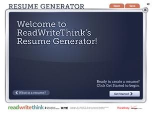 resume generator provides students with a guide to building a polished resume that shows career