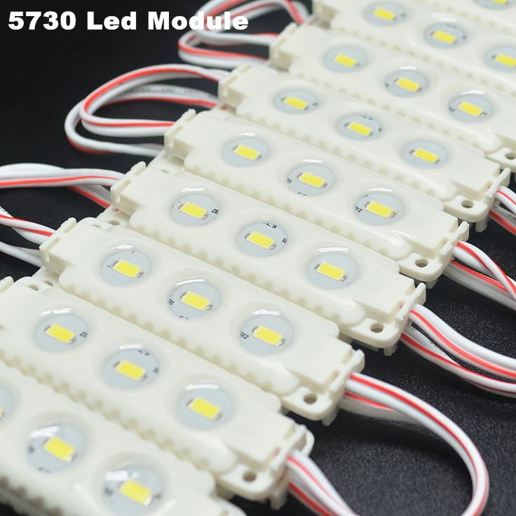 Free shipping 100Pcs/lot 3led SMD5630 Injection Led Module 12V Waterproof IP65 Cool White LED Advertise letter led modules #Affiliate