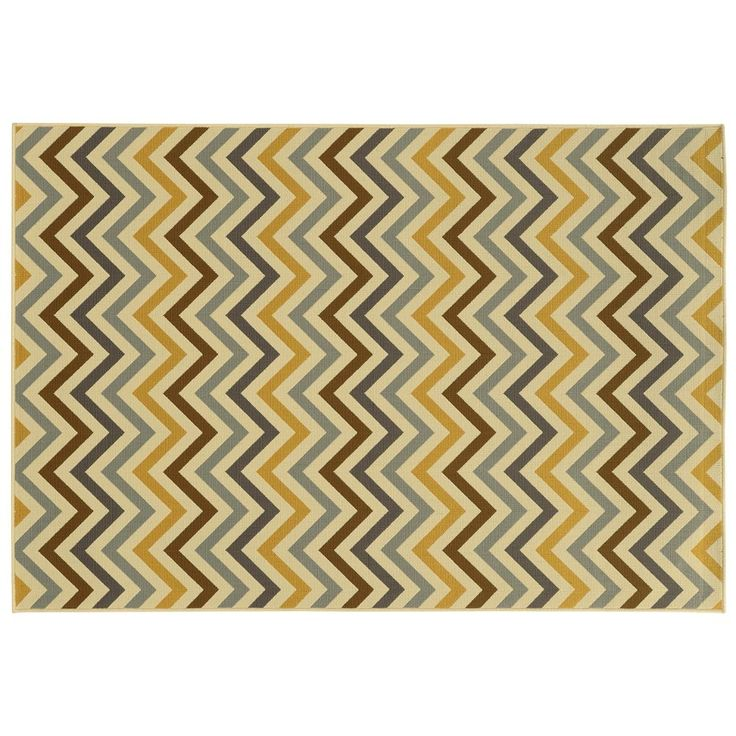 Oriental Weavers River Geometric Chevron Indoor Outdoor Rug   7u002710u0027u0027 ...