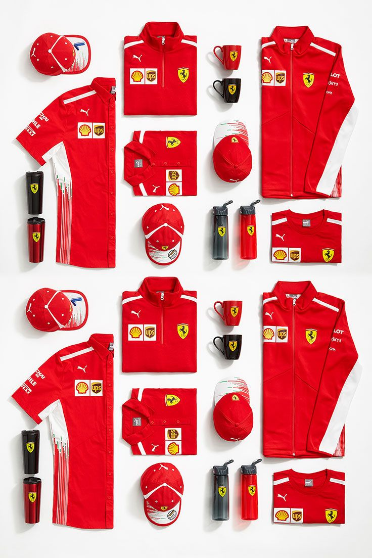4d9b4f5d2da385 Scuderia Ferrari 2018 Teamwear Collection. As worn by the team during the Formula  1 2018 season.